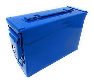 Genuine US Military 30 Cal Ammo Can M19A1 7.62mm .30 Caliber Blue