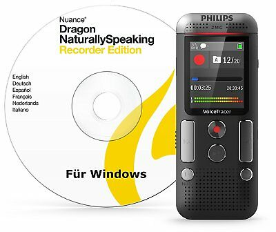 Philips Voice Tracer DVT2710 With Speech Recognition Software NEW