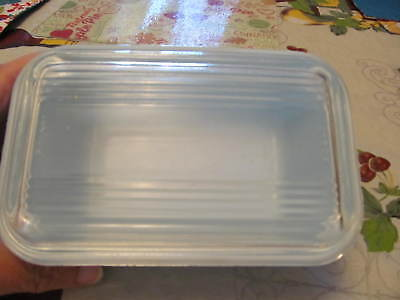Vintage Pyrex Refrigerator covered dish 1.5 pint w/lid primary blue  pre-owned