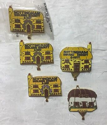 Nottingham Building Society Set Of Special Shape Vintage Hot Air Balloon Pins