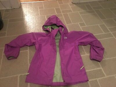 The North Face Kid Girl Hooded Rain Jacket Size Medium 10/12