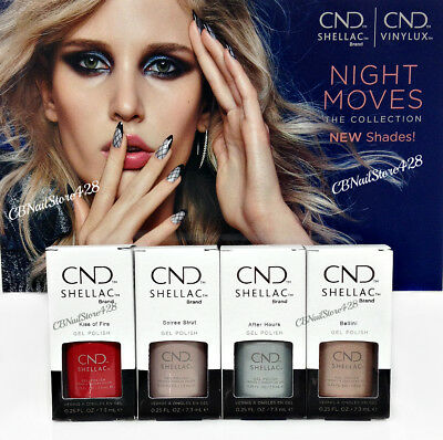Cnd Shellac - NIGHT MOVES 2018 Collection - All 4 Colors 92492-92495