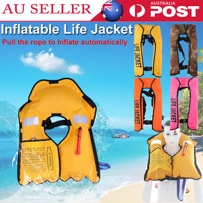 Adult Manual/Automatic Inflatable Life Jacket Inflation 150N PFD Survival Vest