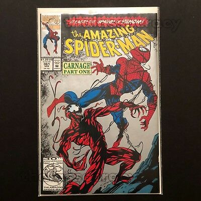 Marvel Amazing Spider-Man 361 2nd Print Silver Ink 1st Carnage VF-NM 1992