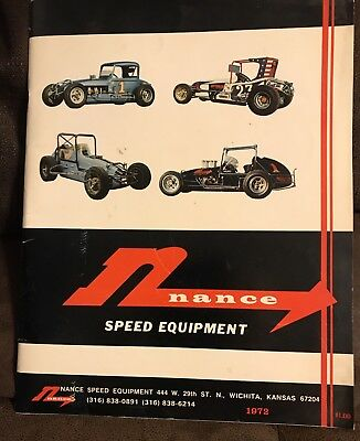 1972 Nance Speed Equipment Dirt Car Racing Parts Catalog And Price List