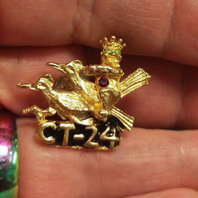 ROYAL ORDER OF JESTERS lapel pin - Mason Shriner Group - 3 jewels - CT 24 - NICE