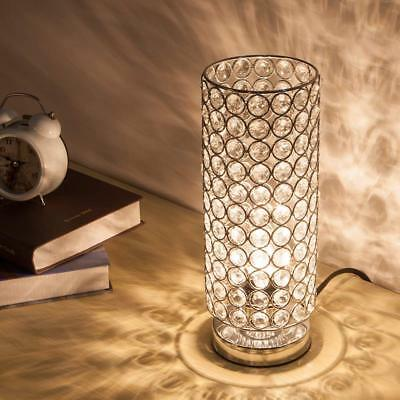 Crystal Table Reading Lamp Bedside Nightstand Desk Lamp for Bedroom Living Room