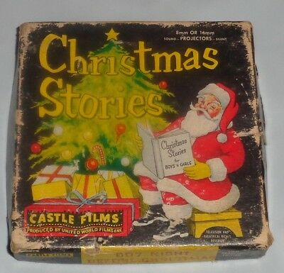 "Rare 1940s Castle Films Christmas Stories ""The Night Before Christmas"" 8mm Works"
