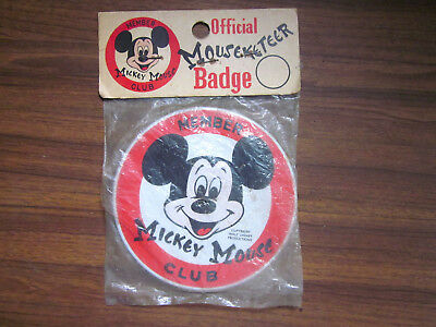 Official Mouseketeer Badge ~ Mickey Mouse Club Button Pin ~ In Sealed Package