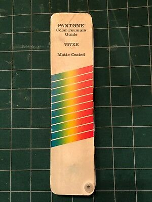 Pantone Color Formula Guide 747XR Supplement - Used Matte Coated