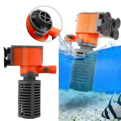 300/500L/H Aquarium Internal Water Filter Fish Tank Submersible Pump Spray S0 BE