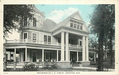 A View Of The Residence Of J.E. Finlay, Brewton, Alabama AL 1928