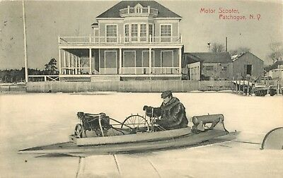"""Motor Scooter"", Patchogue, Long Island, New York NY 1909"