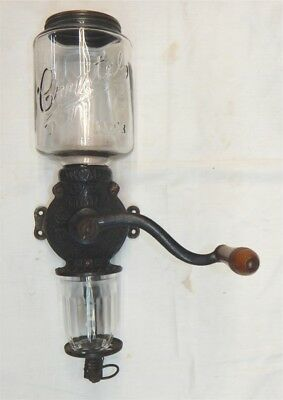 Antique Arcade Crystal Coffee Grinder 3 Wall Mount