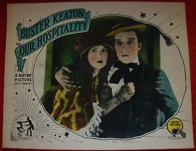 """""""our Hospitality"""" 1923   Buster Keaton, Beautiful, Excellent Cond, Lobby Card!!"""