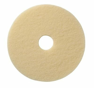 Americo 401520 Image-Beige Synthetic Fiber Burnishing Floor Pad 5 Pack 20""