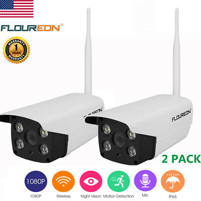 2 Pack Home Security HD IP 1080P Wireless Smart WiFi Audio Night Vision Webcam