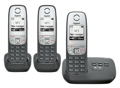 Gigaset A455A Cordless Telephone with Answer Machine -Triple.