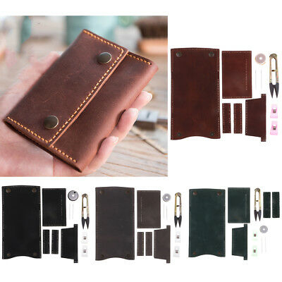 DIY Retro Leather Purse Wallet Kit for Starters Unisex Foldable Unfinished