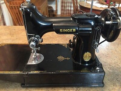 EXCEPTIONAL 40 SINGER Featherweight 404040 With Case Extras New 1947 Singer Featherweight Sewing Machine