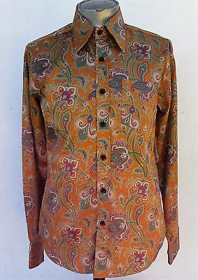1970's Inspired Light Brown paisley shirt by 'Chenaski' of Germany.