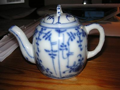 Small 19th century Blue White Chinese inspired Thuringia teapot Philip Havell