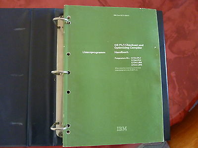 PL/I PL/1 Compiler Handbuch in Deutsch - Original IBM - Top Zustand