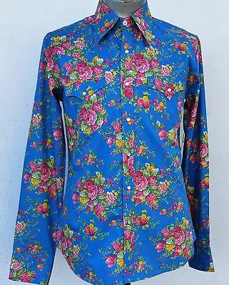1960's Inspired Floral Western shirt by 'Chenaski' of Germany