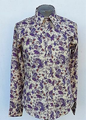 1970's Inspired Lavender Floral shirt by 'Chenaski' of Germany.