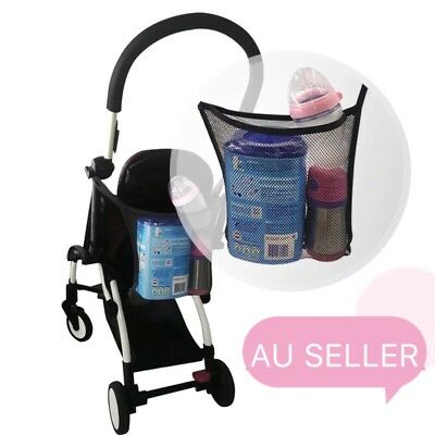 Baby Stroller Pram Caddy Diaper Organizer Storage Hanging Holder Mesh Organiser