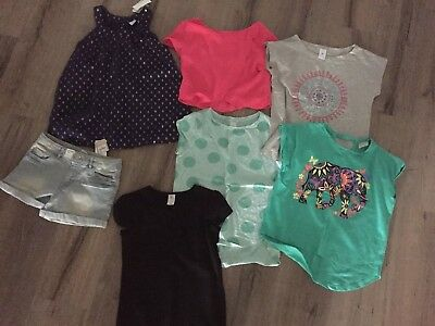 Girls Tops X 6 Plus Shorts - Size 10 - All Exc Condition 2 BNWT