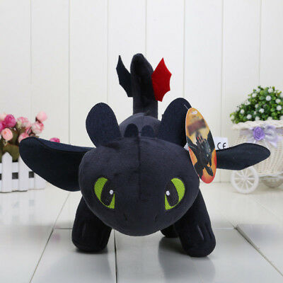 Toothless Night Fury Soft Toy Teddy How to Train Your Dragon Plush Doll 25-55cm