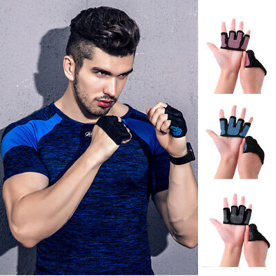 Pro Weight Lifting Gym Anti Skid Grip Half Finger Gloves Fitness Exercise Yoga