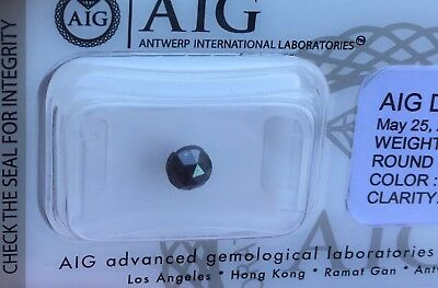 0.61 CTS Natural Fancy Black Diamond Untreated