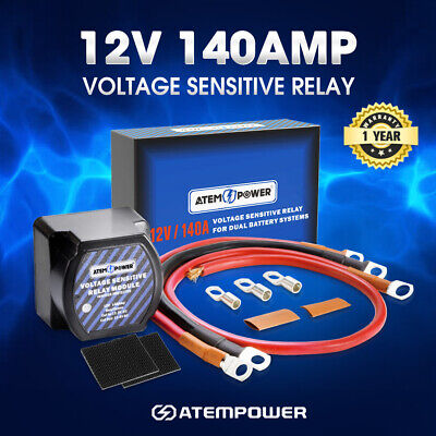 Atem Power Voltage Sensitive Relay 12V Vsr Isolator 140A Dual Battery System