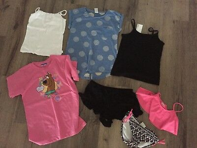 Girls Items - Tops, Bathers, Shorts - Size 8 And 9 - All Exc Condition 1 BNWT