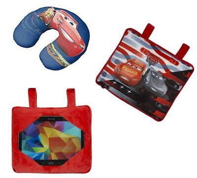 Pixar Cars Mcqueen Travel Trio 3 in 1 Cushion Neck Pillow Car Tablet Holder