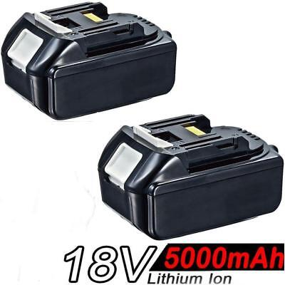 2x 5.0AH 18V Battery For Makita BL1840 BL1830 BL1815 LXT Lithium Ion Cordless