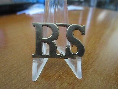 Post WWII British Army The Royal Scots Shoulder Title Badge #1669