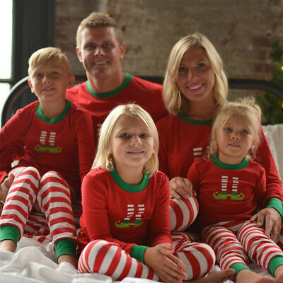 Family Matching Christmas Pajamas PJs Sets Xmas Sleepwear Fall Nightwear Outfit
