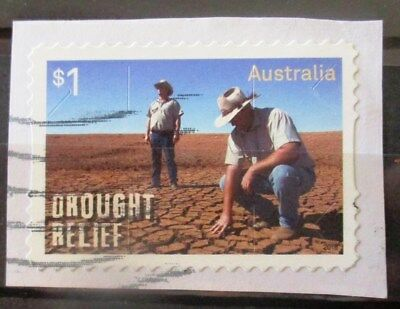 Australia 2018 Drought relief P & S stamp good used on paper