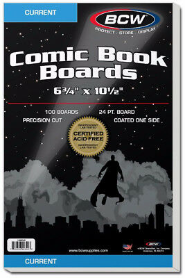 Bcw Comic Book Backing Boards Current Comics (100 Boards Per Pack)