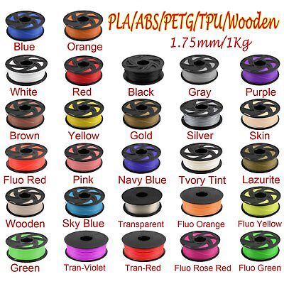 3D Printer Filament 1.75mm PLA ABS Wood PETG TPU 1KG 1.75mm Engineer Drawing Y