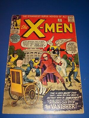 Uncanny X-men #2 Silver Age 1st Vanisher Huge Key 2nd X-men Issue Wow
