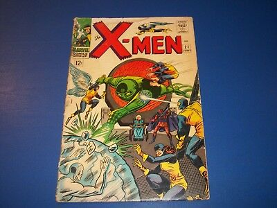 Uncanny X-men #21 Silver Age Comic Book Low grader