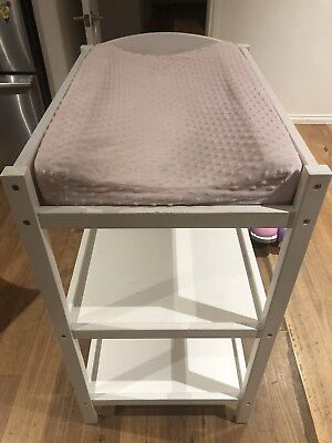 White Baby Change Table