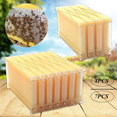 1/4/7PCS Auto Flow Honey Hive Beekeeping Beehive Frame Food-grade Plastic