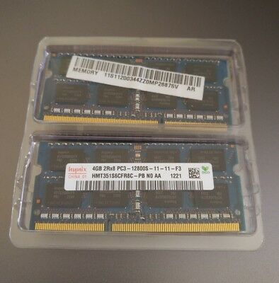 2 x Hynix 4GB DDR3 Ram notebook S0-Dimm  1600MHz