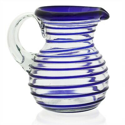 Curved Jug (1 litre) - Hand-blown from Recycled Glass Fair Trade