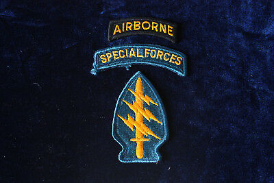 U.S. Army Special Forces Patch mit Tab AIRBORNE und Tab SPECIAL FORCES Color